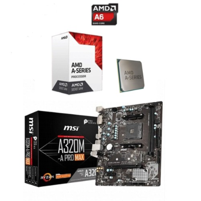 COMBO MOTHER GIGABYTE GA-A320M + MICRO AMD A6 9500